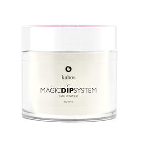 Proszek do manicure tytanowego - Kabos Magic Dip System 03 White Glitter French