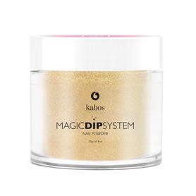 Proszek do manicure tytanowego - Kabos Magic Dip System 37 Gold Dust