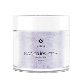 Proszek do manicure tytanowego - Kabos Magic Dip System 16 Purple Sparkles