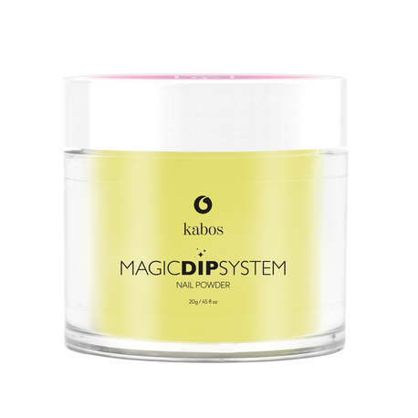 Proszek do manicure tytanowego - Kabos Magic Dip System 40 Yellow Lemon (1)