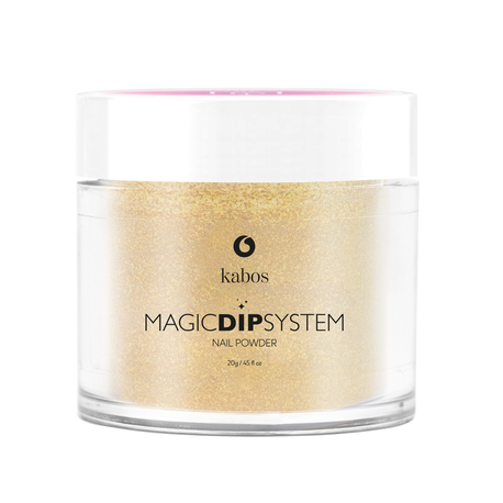 Proszek do manicure tytanowego - Kabos Magic Dip System 37 Gold Dust (1)