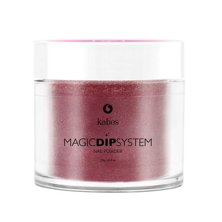 Proszek do manicure tytanowego - Kabos Magic Dip System 45 Cherry Chocolate (1)