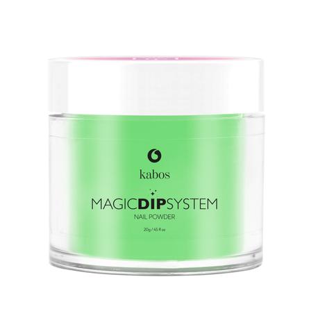 Proszek do manicure tytanowego - Kabos Magic Dip System 41 Bright Green (1)