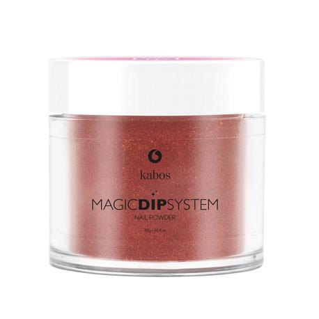 Proszek do manicure tytanowego - Kabos Magic Dip System 39 Copper Shine (1)