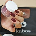 Proszek do manicure tytanowego - Kabos Magic Dip System 45 Cherry Chocolate (3)