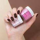 Proszek do manicure tytanowego - Kabos Magic Dip System 38 Brown Glitter (3)