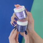 Proszek do manicure tytanowego - Kabos Magic Dip System 42 Dark Blue (3)